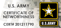 US Army Certificate of Networthiness